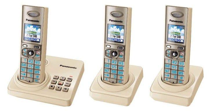 Радиотелефон PANASONIC KX-TG8226RUJ-P,  бежевый [kit-kx-tg8226ruj-p]