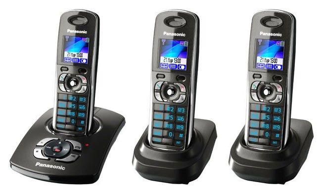 Радиотелефон PANASONIC KX-TG8322RUT-P,  серый металлик [kit-kx-tg8322rut-p]