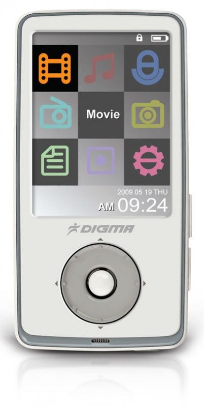 MP3 плеер DIGMA Insomnia2 flash 2Гб белый