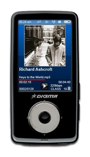 MP3 плеер DIGMA Insomnia2 flash 4Гб черный