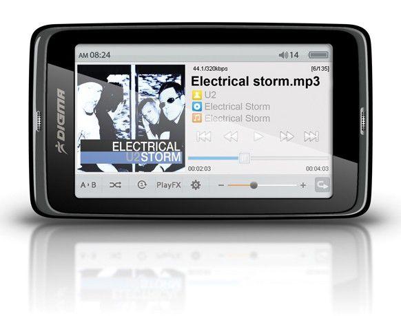 MP3 плеер DIGMA Insomnia3 flash 8Гб черный