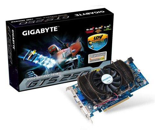 Видеокарта GIGABYTE GeForce GTS 250,  1Гб, GDDR3, Ret [gv-n250oc-1gi]