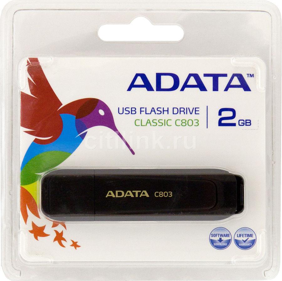 Флешка USB A-DATA Classic C803 2Гб, USB2.0, черный