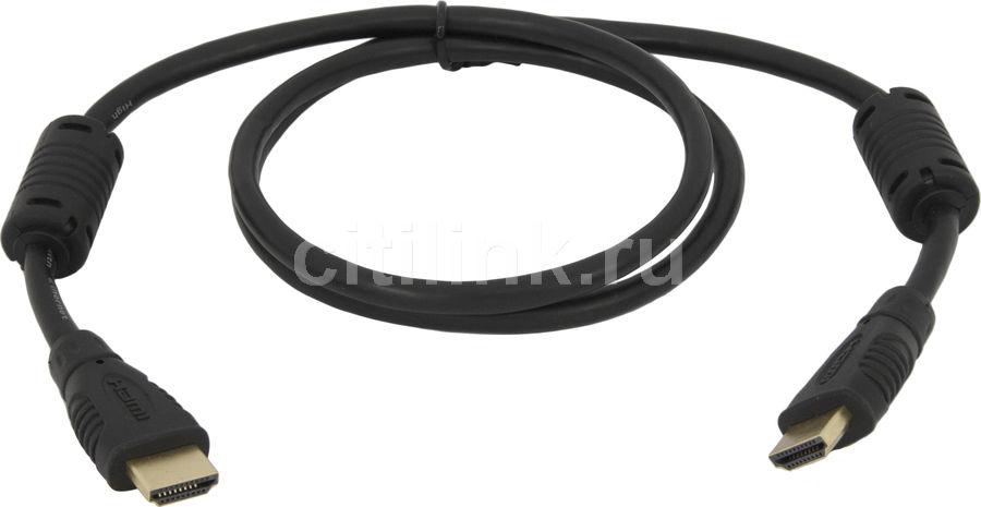 Кабель видео  BELSIS BW3305,  HDMI (m)  -  HDMI (m) ,  1м, GOLD ф/фильтр,  черный