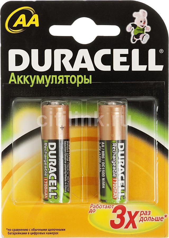 Аккумулятор DURACELL HR6 DC1500,  2 шт. AA,  1700мAч