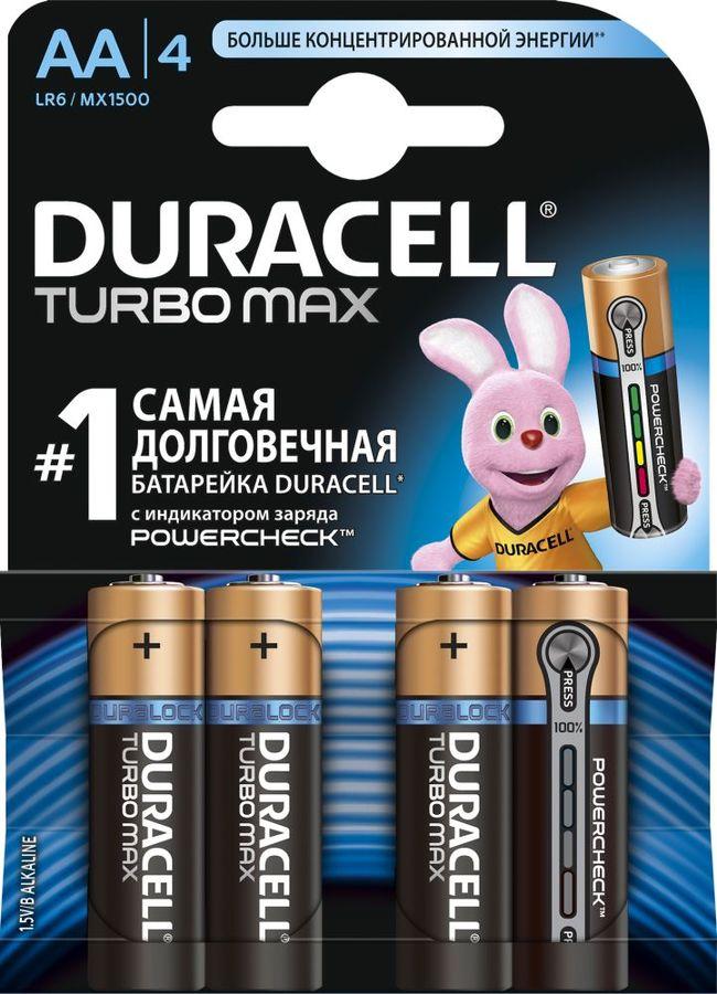 Батарея DURACELL Turbo MAX LR6-4BL,  4 шт. AA