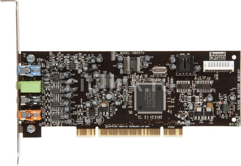Звуковая карта PCI CREATIVE AUDIGY SE,  7.1, oem [30sb057000000]