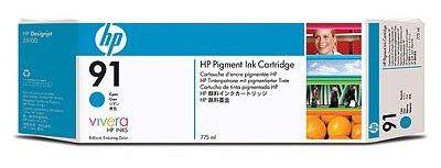 Картридж HP №91 C9467A,  голубой