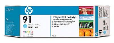 Картридж HP №91 светло-голубой [c9470a]