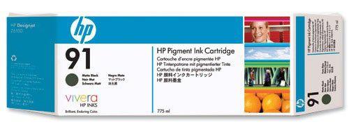 Тройная упаковка картриджей HP №91 черный матовый [c9480a]