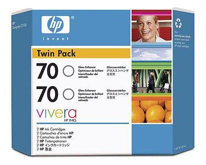 Двойная упаковка картриджей HP 70 черный матовый [cb339a]