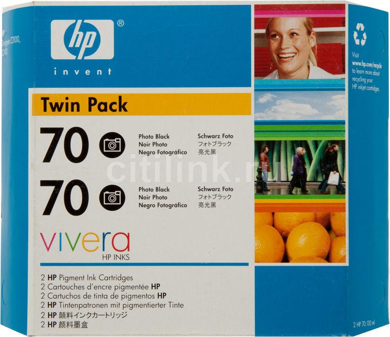 Двойная упаковка картриджей HP 70 CB340A черный