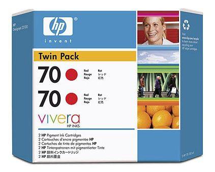 Двойная упаковка картриджей HP 70 красный [cb347a]