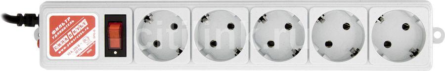 Сетевой фильтр POWERCUBE SPG-B-15, 5м, серый