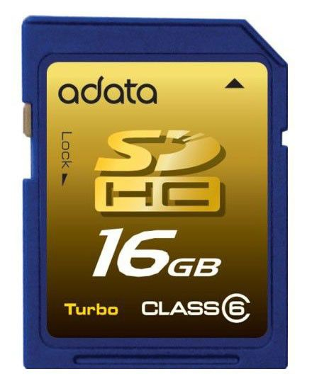 Карта памяти SDHC A-DATA Turbo 16 ГБ, Class 6, 1 шт.