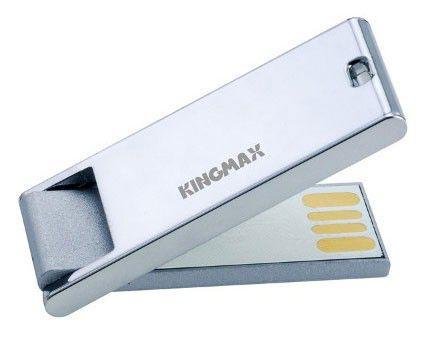Флешка USB KINGMAX Super Stick Mask 16Гб, USB2.0, серебристый