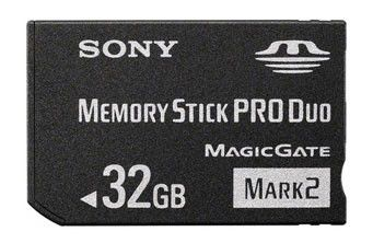Карта памяти Memory Stick Pro Duo SONY Mark2 32 ГБ, MSMT32GN/MS-HX32A,  1 шт.
