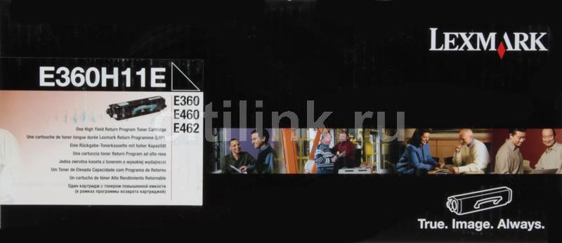 Картридж LEXMARK E360H11E черный