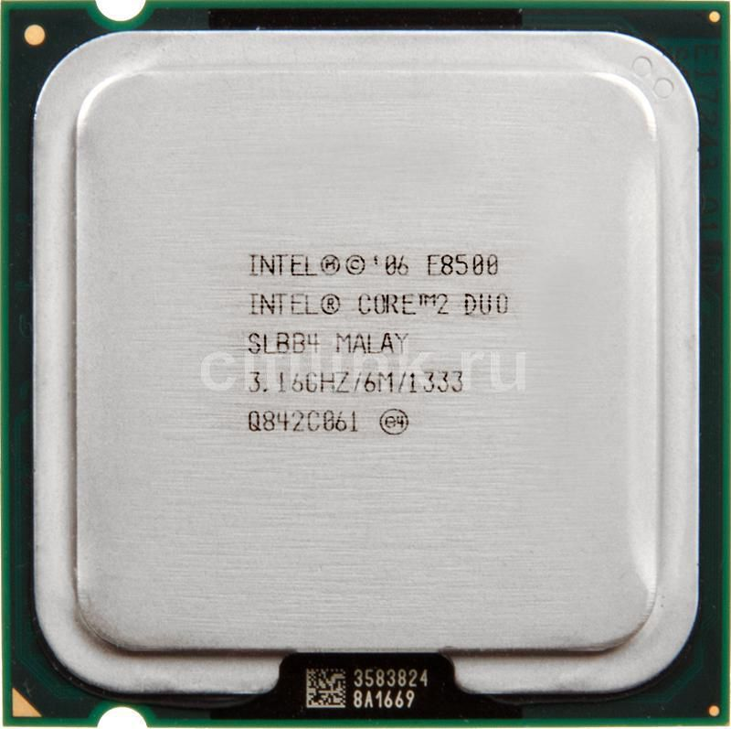 Процессор INTEL Core 2 Duo E8500, LGA 775 [at80570pj0876m]