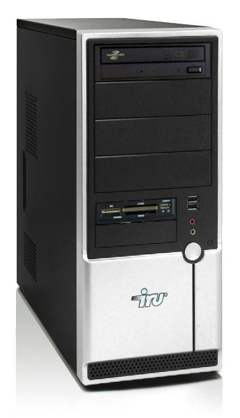 IRU Ergo Home 113,  AMD  Sempron X2  2200,  DDR2 1Гб, 160Гб,  ATI Radeon X1200,  DVD-RW,  CR,  Free DOS,  черный
