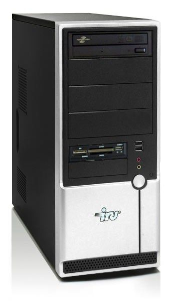 Компьютер  IRU Ergo Home 123W ВТС,  Intel  Pentium Dual-Core  E6300,  DDR2 4Гб, 320Гб,  nVIDIA GeForce 9600 GT - 512 Мб,  DVD-RW,  CR,  Windows Vista Home Basic,  черный