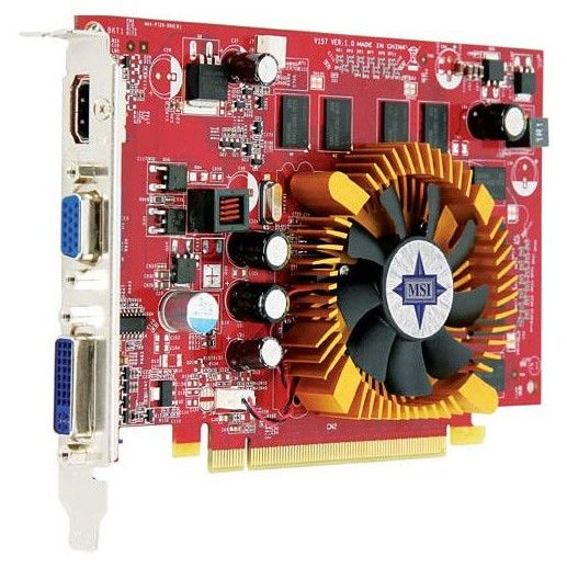 Видеокарта MSI GeForce 9400 GT,  1Гб, DDR2, oem [n9400gt-md1g]