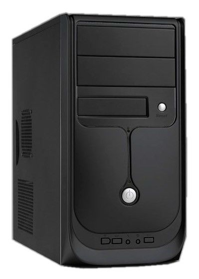 Корпус mATX LINKWORLD 437-04, Mini-Tower, 350Вт,  черный