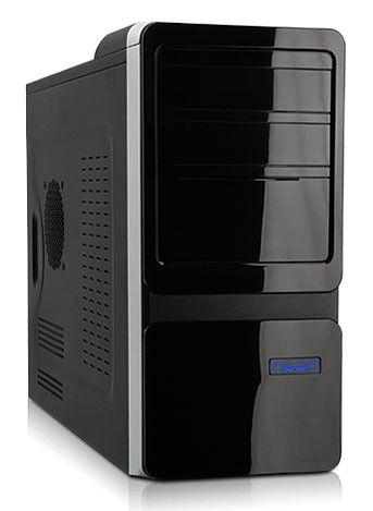 Корпус mATX FOXCONN TLM-069, 350Вт,  черный и серебристый