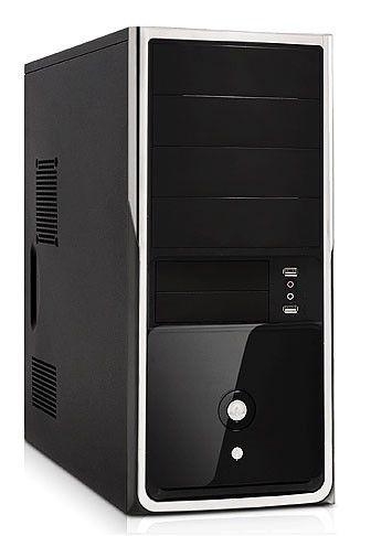 Корпус ATX FOXCONN TSAA-699, 400Вт,  черный и серебристый