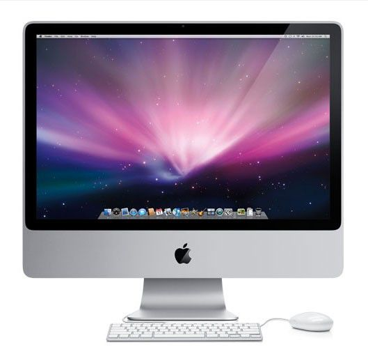 APPLE iMac MB417 RS/A,  Intel  Core2 Duo  DDR2 2Гб, 320Гб,  nVIDIA GeForce 9400 M,  DVD-RW,  Mac OS X,  серебристый