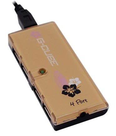 Хаб (разветвитель) G-CUBE GUA-54GA, золотистый