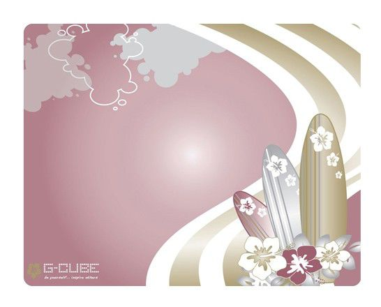 Коврик для мыши G-CUBE GMA-20SF розовый/рисунок
