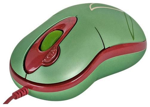 Мышь G-CUBE GOE-6DE оптическая проводная USB, зеленый и коричневый