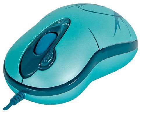 Мышь G-CUBE GOE-6DW оптическая проводная USB, голубой и синий