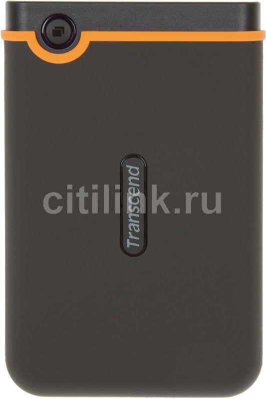 Внешний жесткий диск TRANSCEND StoreJet 25M TS500GSJ25M, 500Гб, черный