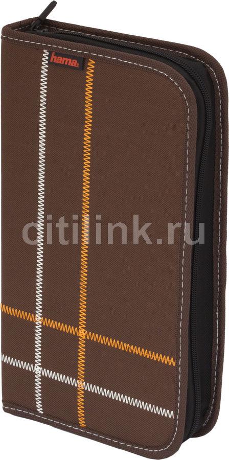 Портмоне HAMA Sixties H-83834, коричневый, для 64 дисков