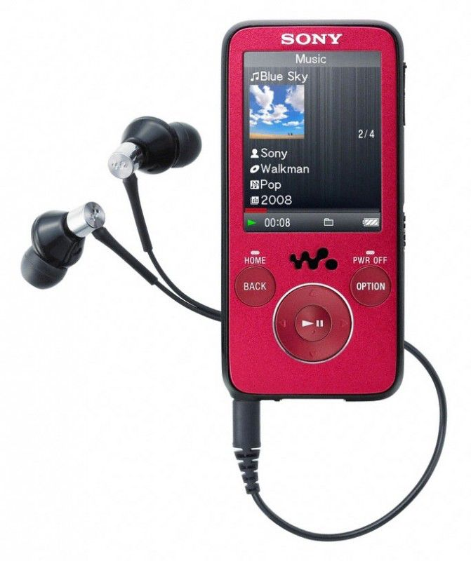 MP3 плеер SONY NWZ-S638FR flash 8Гб красный [nwzs638fr]