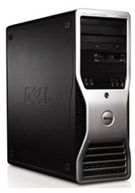 DELL Precision T3500,  Intel  Xeon  W3503,  DDR3 2Гб, 160Гб,  nVIDIA Quadro FX 580 - 512 Мб,  DVD-RW,  Windows Vista Business,  черный и серебристый