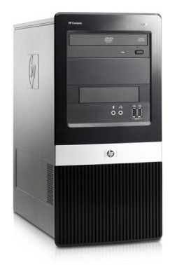 HP dx2420MT,  Intel  Core2 Duo  E7500,  DDR2 1Гб, 320Гб,  Intel GMA X3100,  DVD-RW,  CR,  Free DOS,  черный [vc500ea]