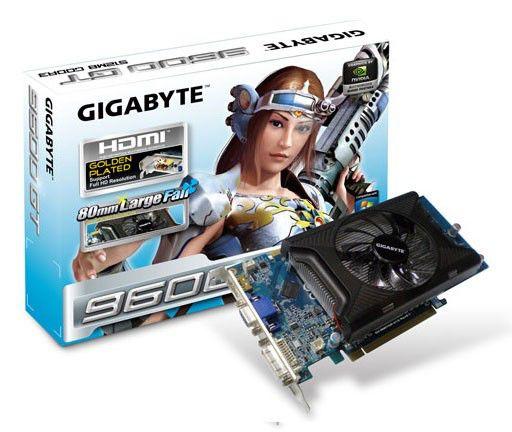 Видеокарта GIGABYTE GeForce 9600 GT,  512Мб, DDR3, Ret [gv-n96tgr-512i]