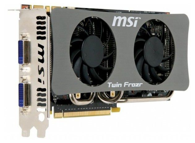 Видеокарта MSI GeForce GTS 250,  512Мб, DDR3, OC,  Ret [n250gts-twin frozr oc]