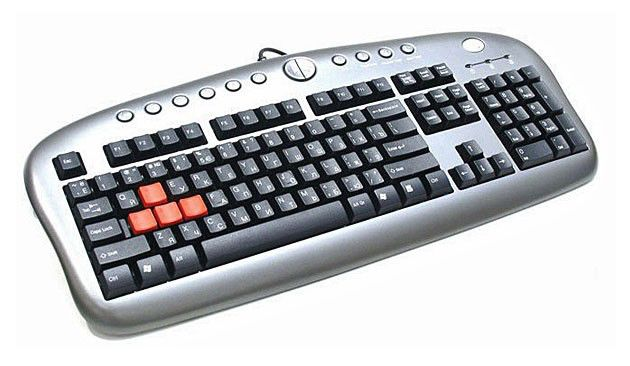 Клавиатура A4 KB-28G-2,  USB, серый [kb-28g-2 usb silver]