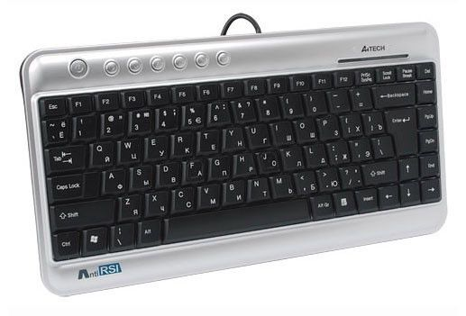 Клавиатура A4 KL-5,  USB, синий [kl-5 usb (black)]