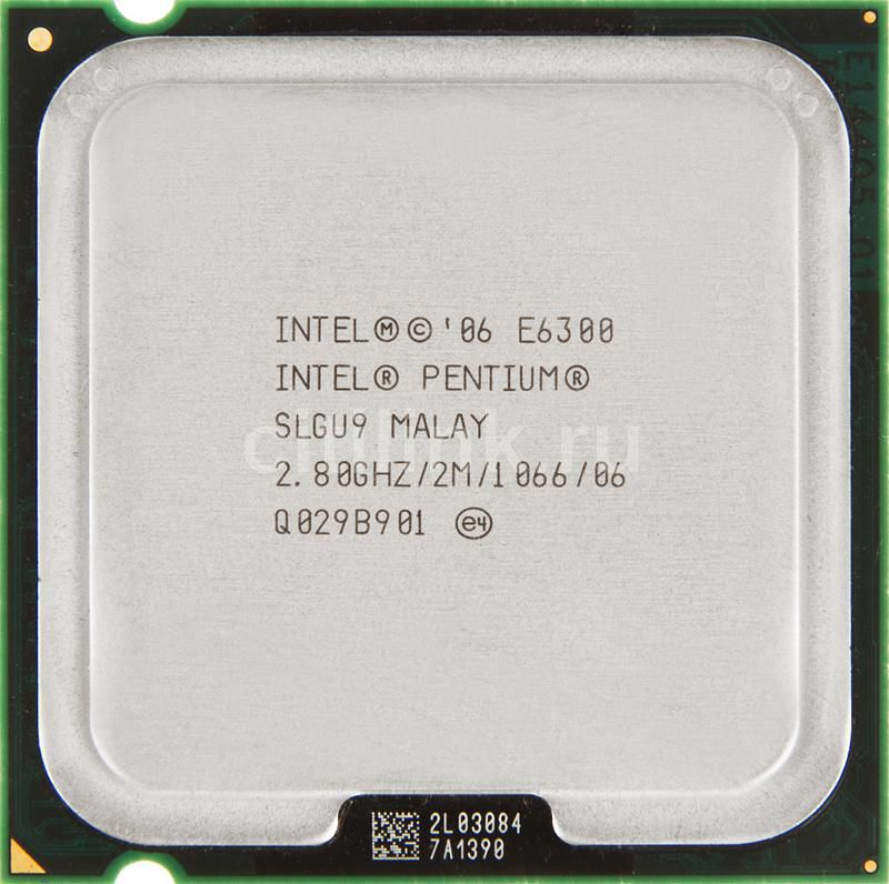 Процессор INTEL Pentium Dual-Core E6300, LGA 775 [at80571ph0722ml]