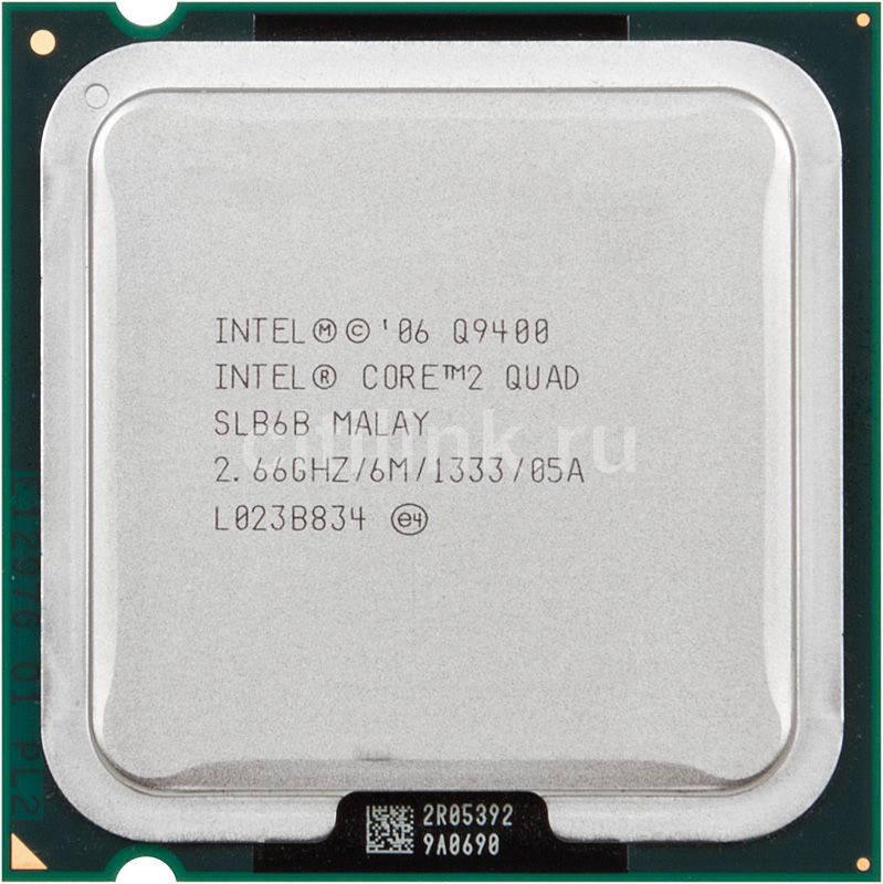 Процессор INTEL Core 2 Quad Q9400, LGA 775 [at80580pj0676m]