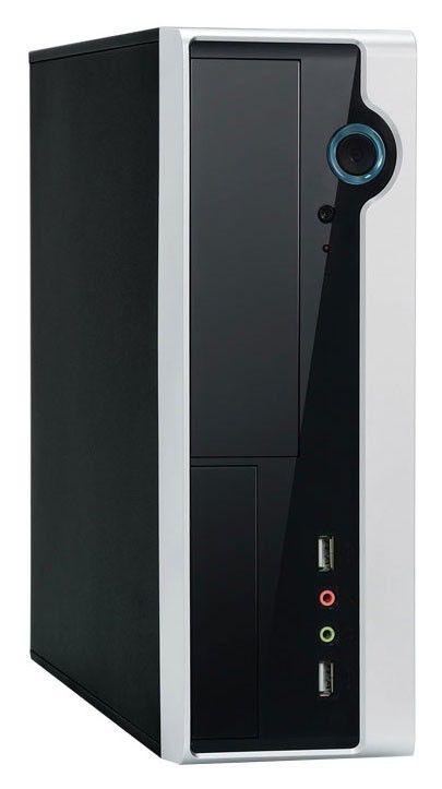 Корпус Foxconn RS-233 IRU black/silver 150W miniITX 2*USB Audio Mic Fan