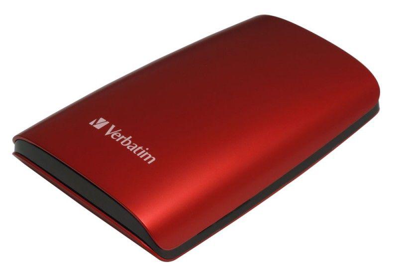 Внешний жесткий диск VERBATIM 320Гб, красный [47636]