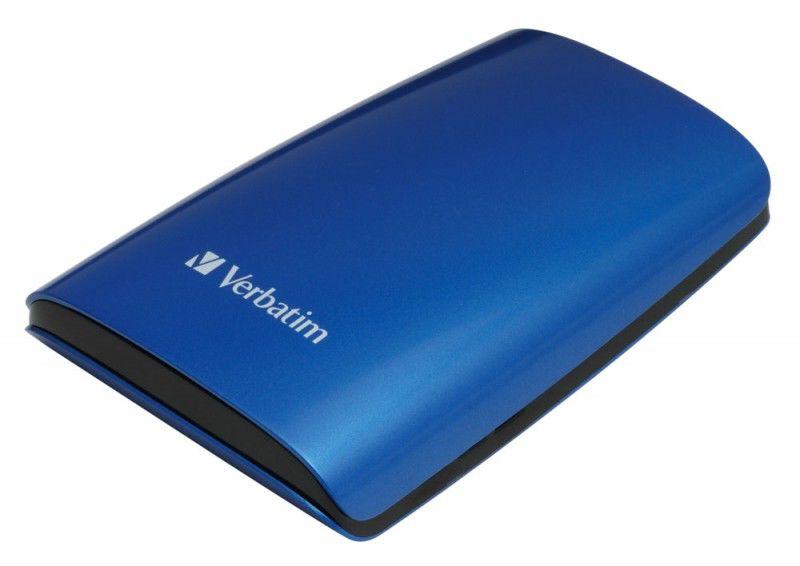Внешний жесткий диск VERBATIM 320Гб, синий [47637]