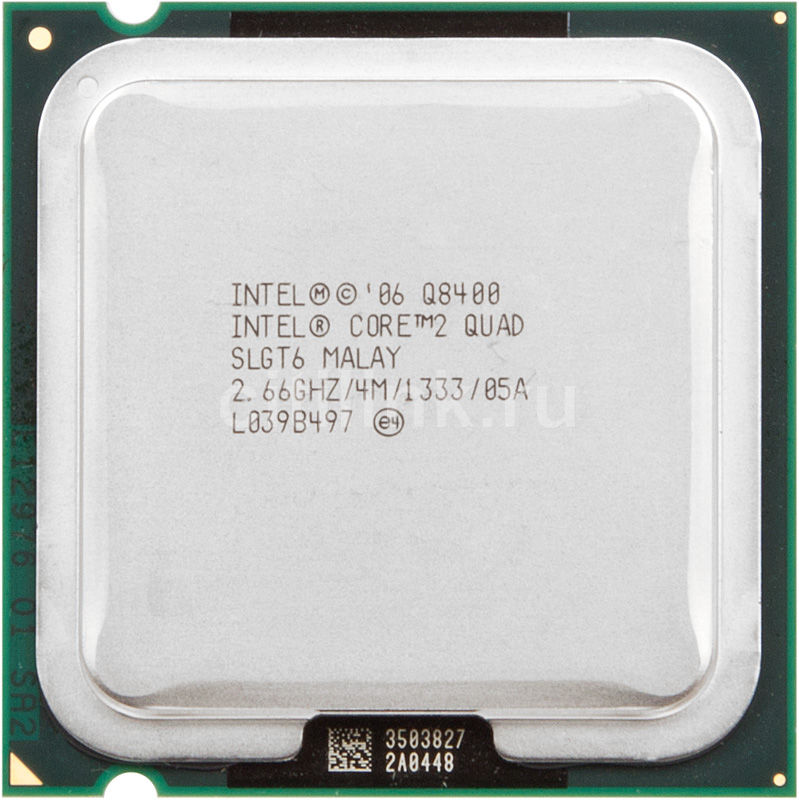 Процессор INTEL Core 2 Quad Q8400, LGA 775 [at80580pj0674mlslgt6]