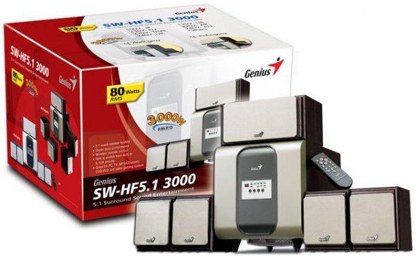 Колонки GENIUS SW-HF5.1 3000,  черный [sw-hf 5.1 3000]